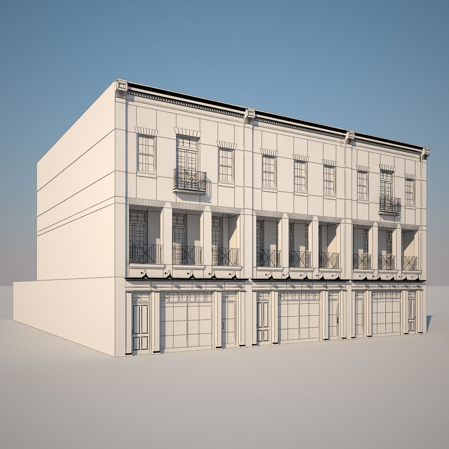 BRICK BUILDING royalty-free 3d model - Preview no. 4
