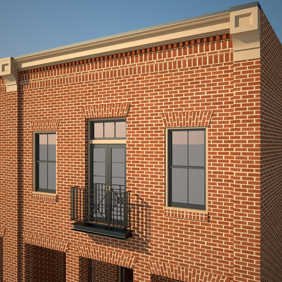BRICK BUILDING royalty-free 3d model - Preview no. 14