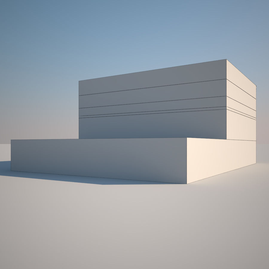BRICK BUILDING royalty-free 3d model - Preview no. 6
