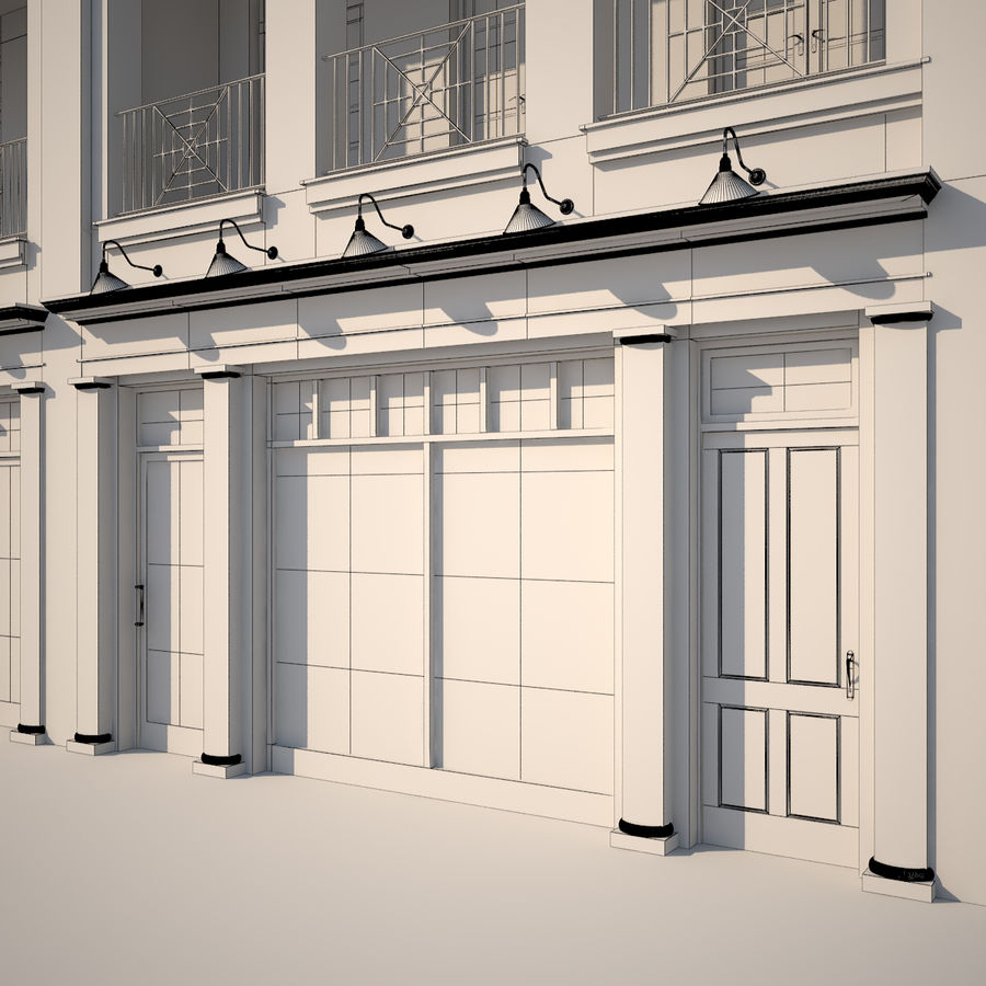 BRICK BUILDING royalty-free 3d model - Preview no. 10