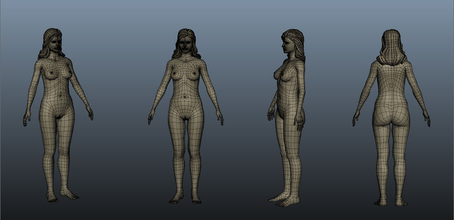 Nu féminin royalty-free 3d model - Preview no. 7