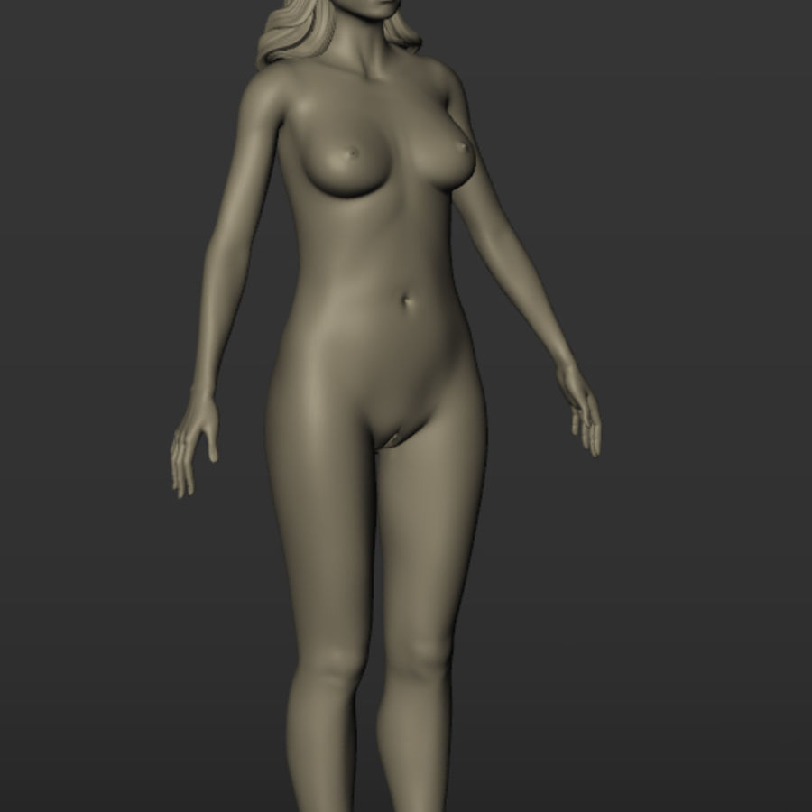 Nu féminin royalty-free 3d model - Preview no. 2