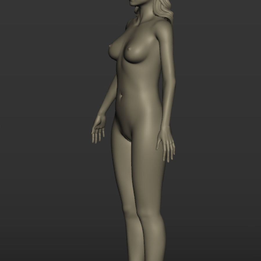 Nu féminin royalty-free 3d model - Preview no. 4