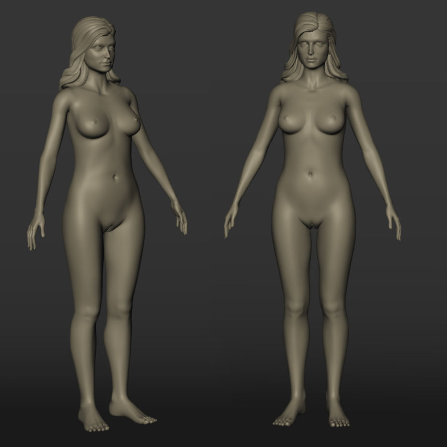 Nu féminin royalty-free 3d model - Preview no. 1