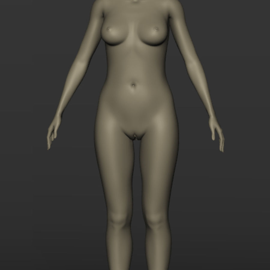 Nu féminin royalty-free 3d model - Preview no. 3