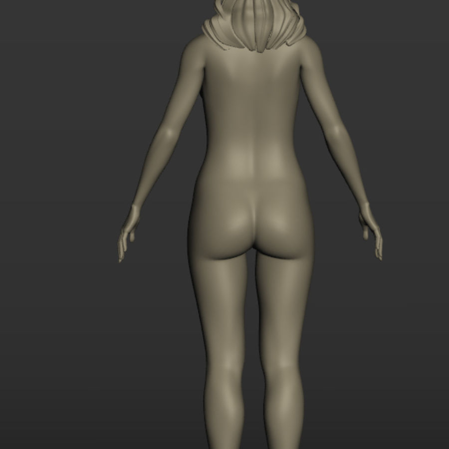 Nu féminin royalty-free 3d model - Preview no. 5
