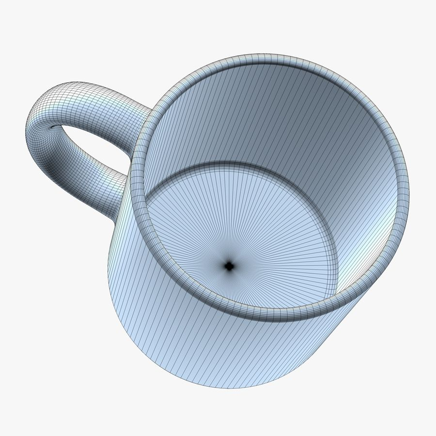Taza de café royalty-free modelo 3d - Preview no. 9