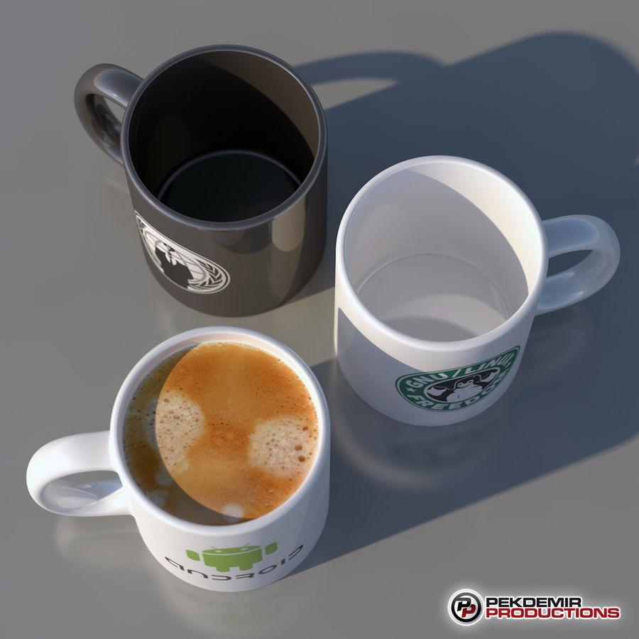 Taza de café royalty-free modelo 3d - Preview no. 6