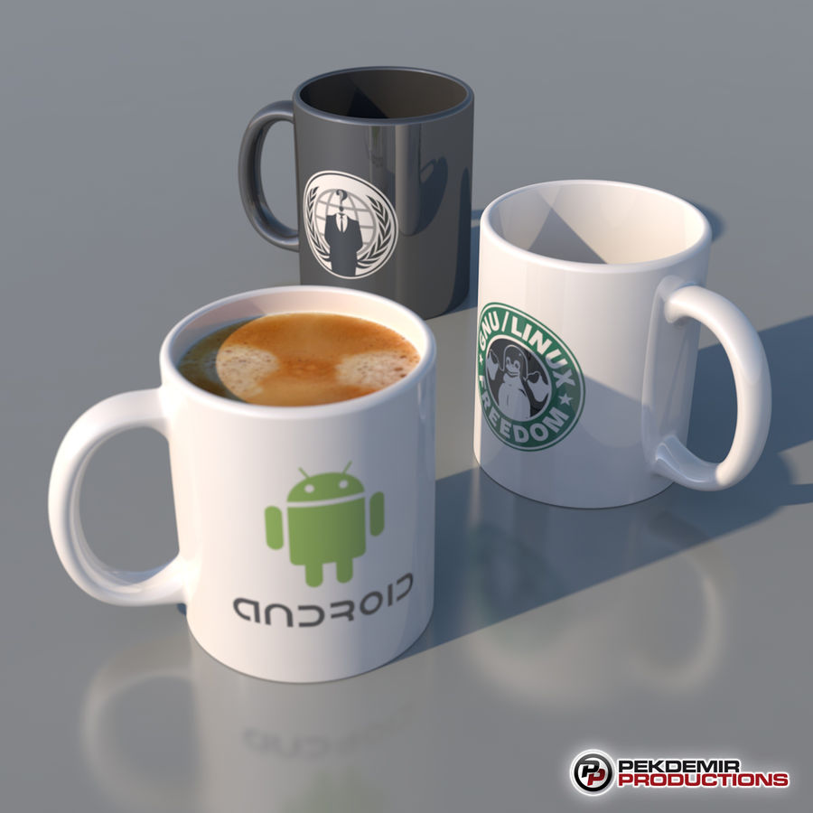 Coffee Mug royalty-free 3d model - Preview no. 4