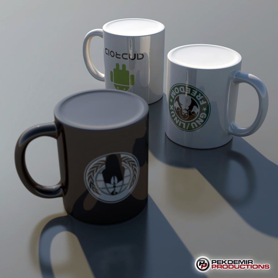 Coffee Mug royalty-free 3d model - Preview no. 5