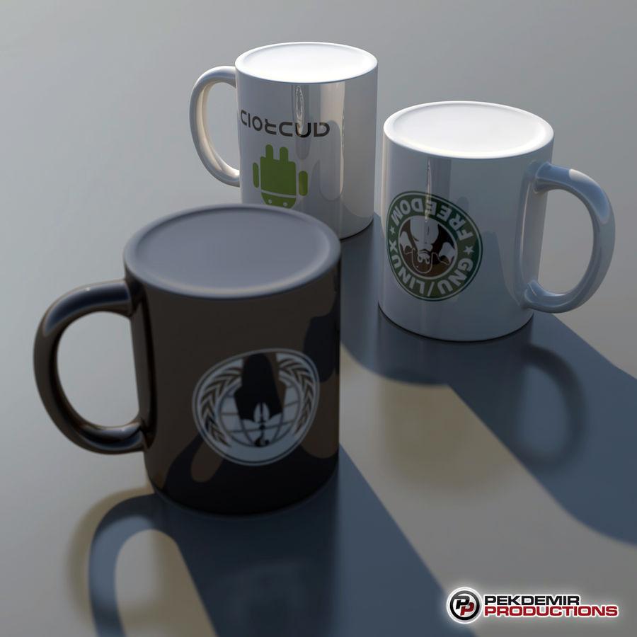 Taza de café royalty-free modelo 3d - Preview no. 5