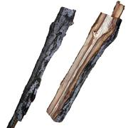 split logs plum 3d model