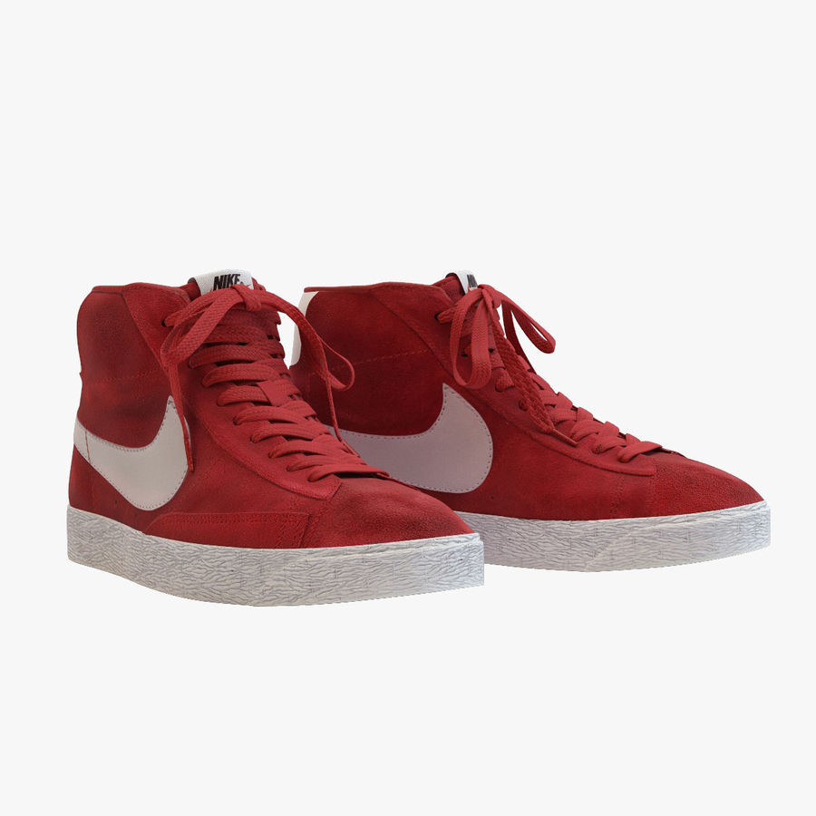new product 8d35e 21025 Nike - Mid Blazer Red royalty-free 3d model - Preview no. 1