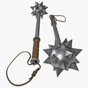 Spiked Ball Mace 3d model