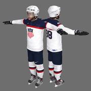 Patrick Kane Sochi 2014 equipe EUA jogador de hóquei 3d model