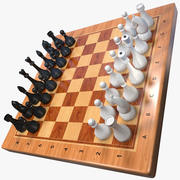 Chess Set (Wooden) 3d model