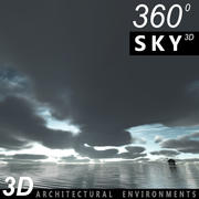 Sky 3D Clouded 008 3d model