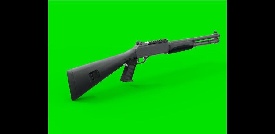 strzelba m1014 royalty-free 3d model - Preview no. 3