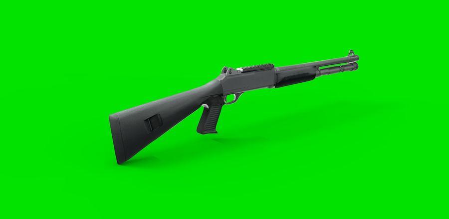 strzelba m1014 royalty-free 3d model - Preview no. 4