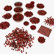 Cherry Fruit Collection Set (2) 3d model