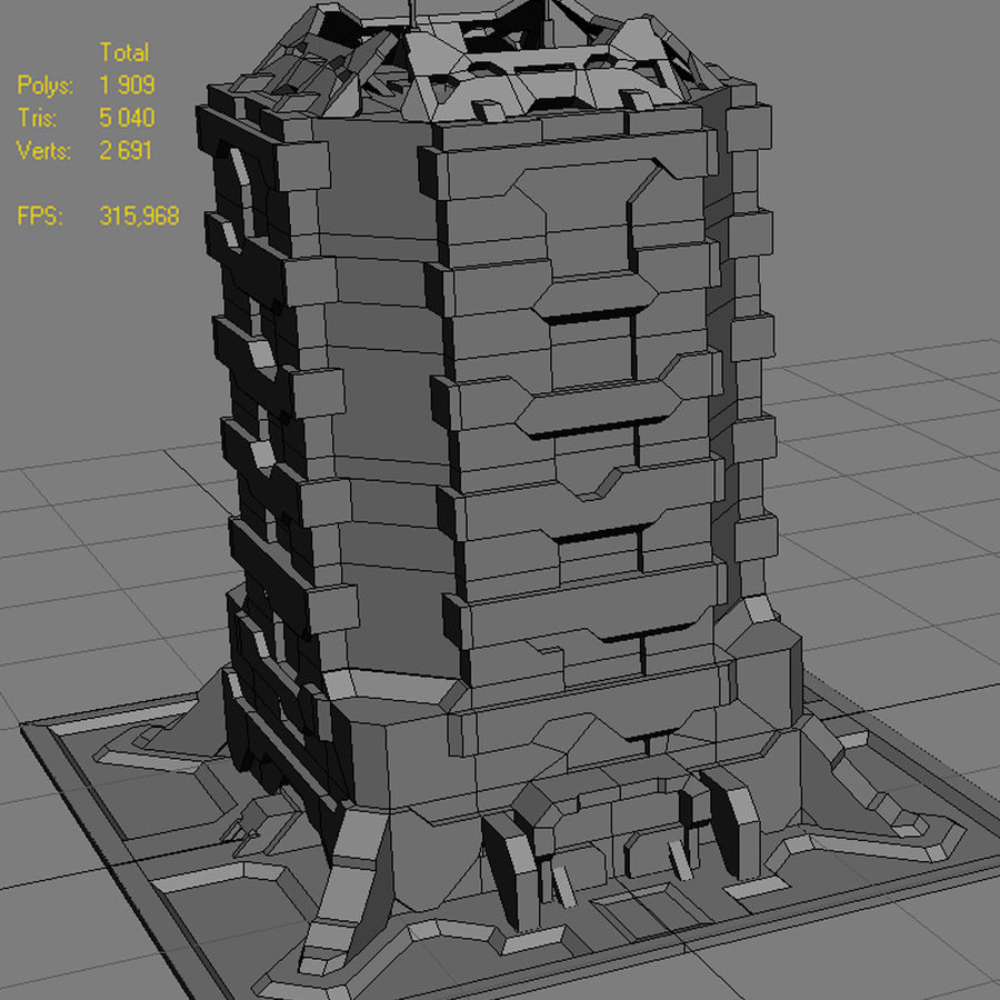 Starbase 04 royalty-free 3d model - Preview no. 18