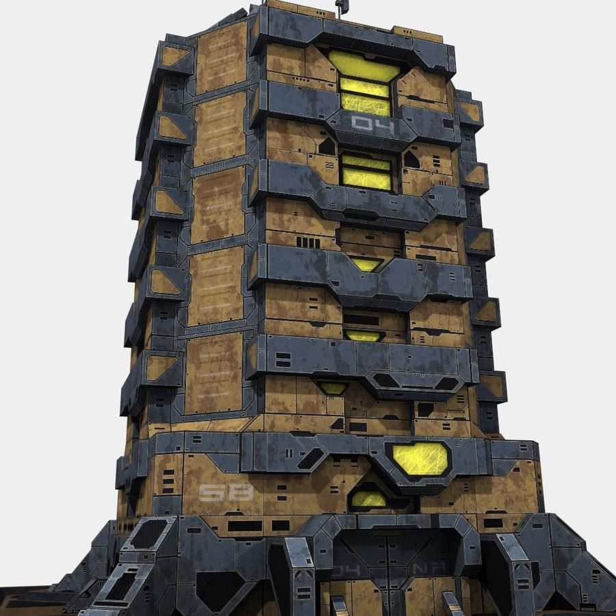 Starbase 04 royalty-free 3d model - Preview no. 10