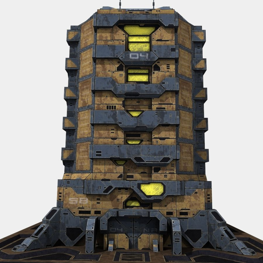Starbase 04 royalty-free 3d model - Preview no. 1