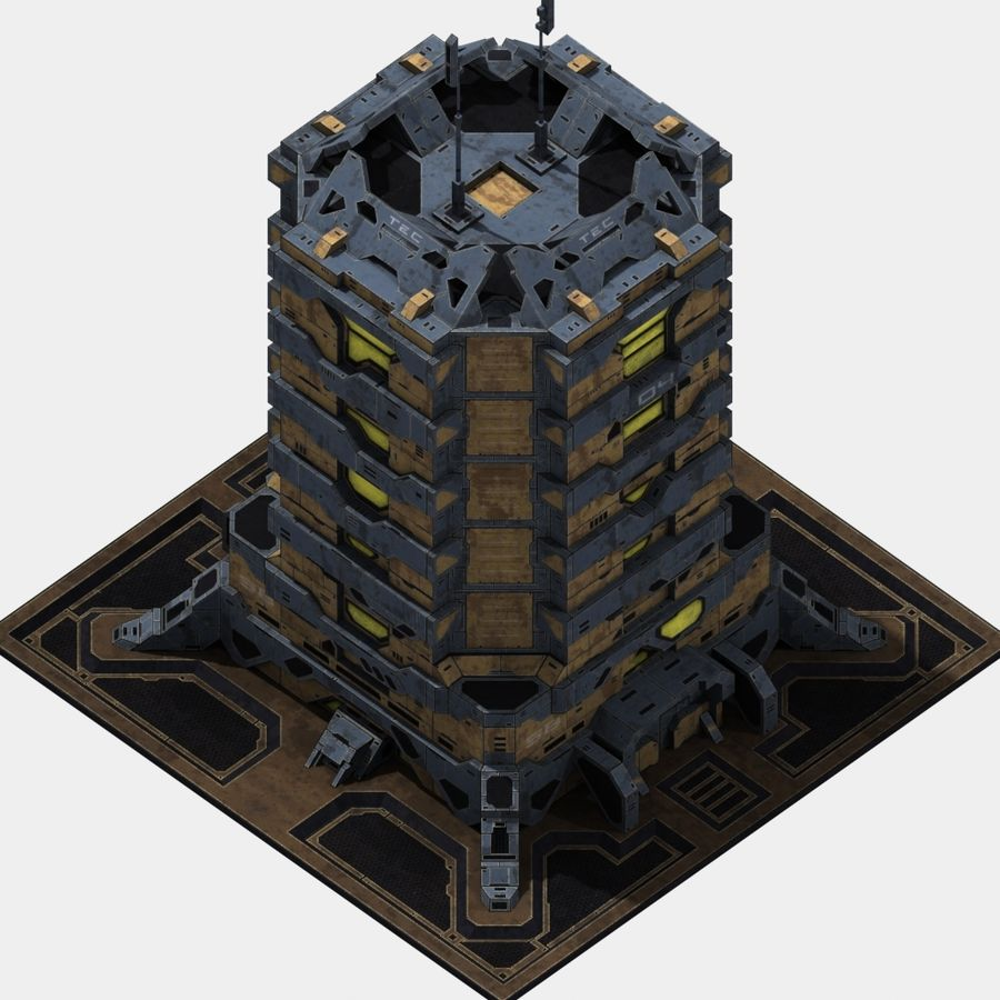 Starbase 04 royalty-free 3d model - Preview no. 9