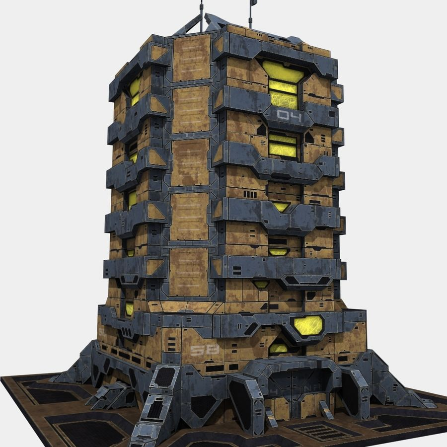 Starbase 04 royalty-free 3d model - Preview no. 4