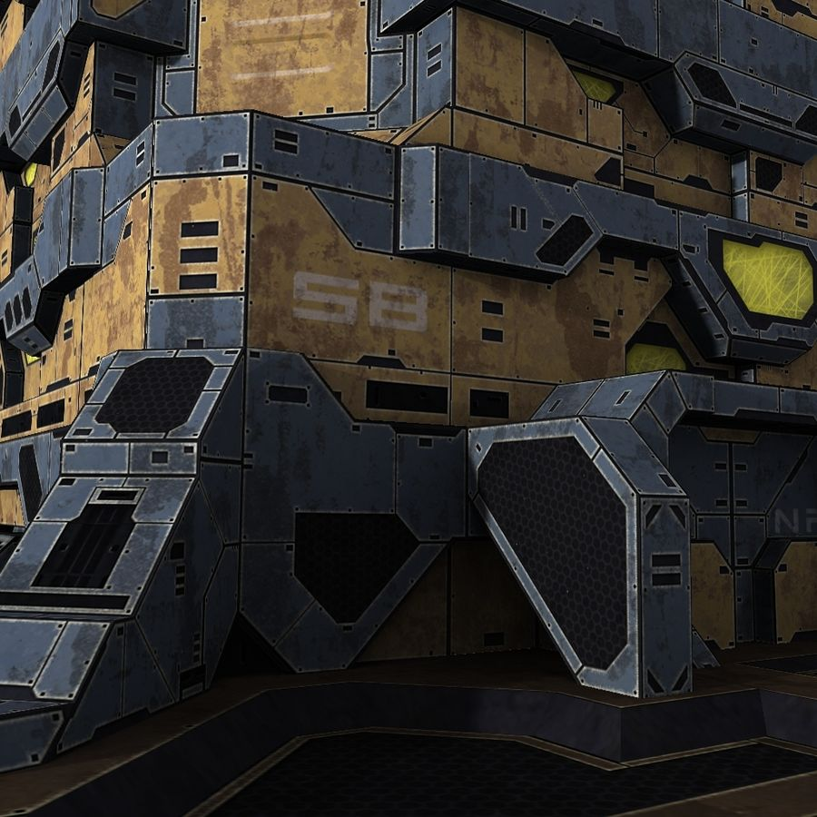 Starbase 04 royalty-free 3d model - Preview no. 6