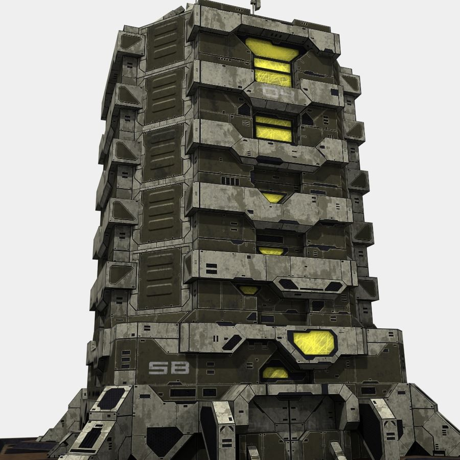 Starbase 04 royalty-free 3d model - Preview no. 11