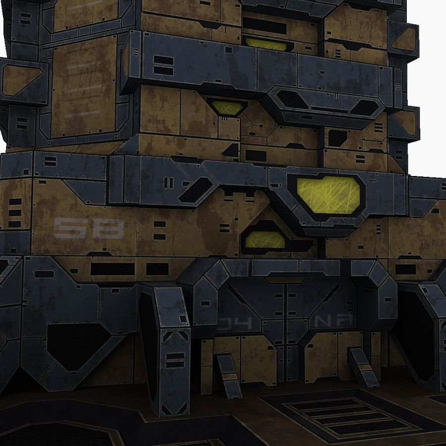 Starbase 04 royalty-free 3d model - Preview no. 7