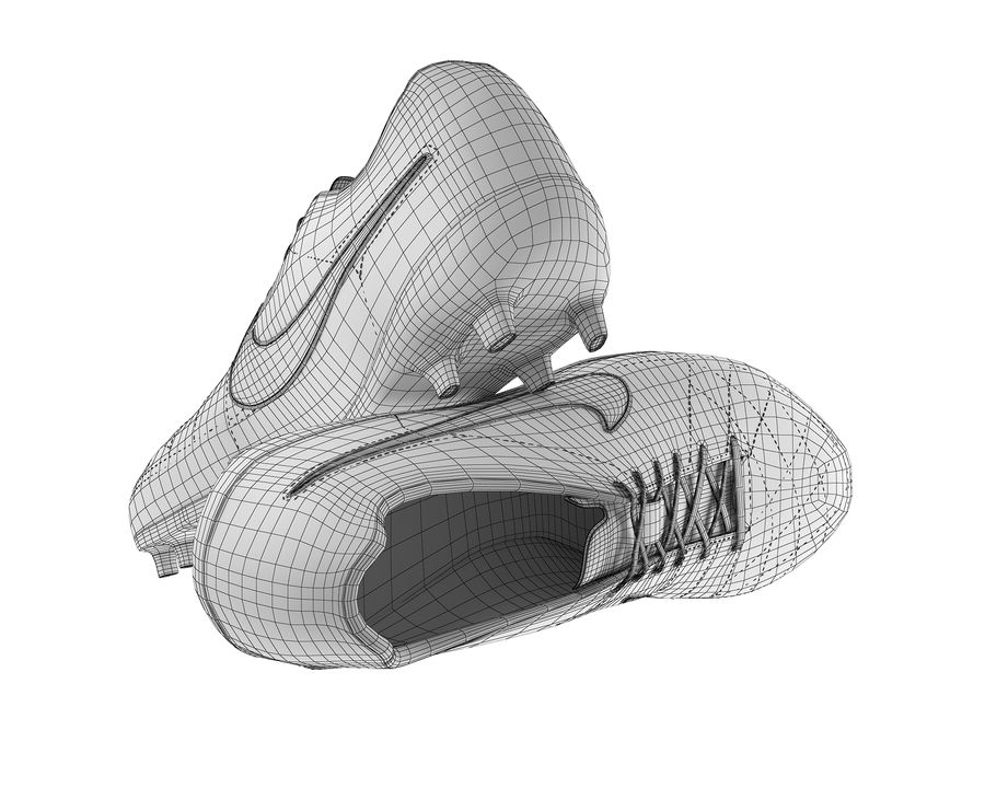 Nike Tiempo Legend V Football Boots royalty-free 3d model - Preview no. 11