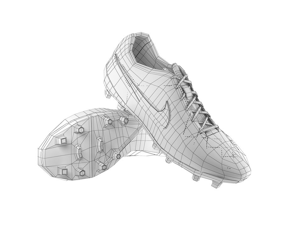 Nike Tiempo Legend V Football Boots royalty-free 3d model - Preview no. 5
