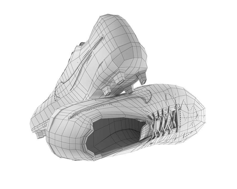 Nike Tiempo Legend V Football Boots royalty-free 3d model - Preview no. 10