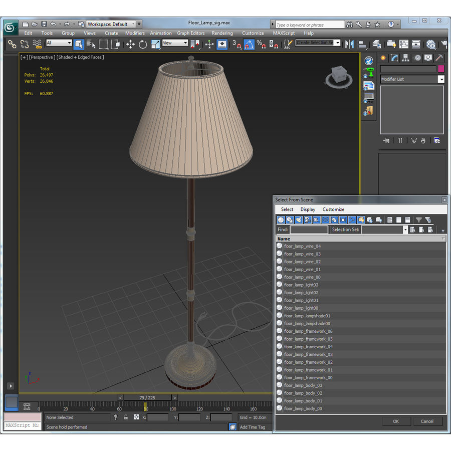 Floor Lamp royalty-free 3d model - Preview no. 33