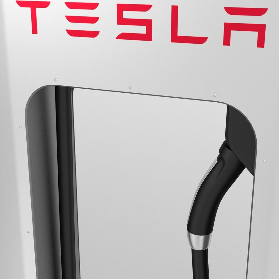 Tesla Supercharger royalty-free 3d model - Preview no. 5