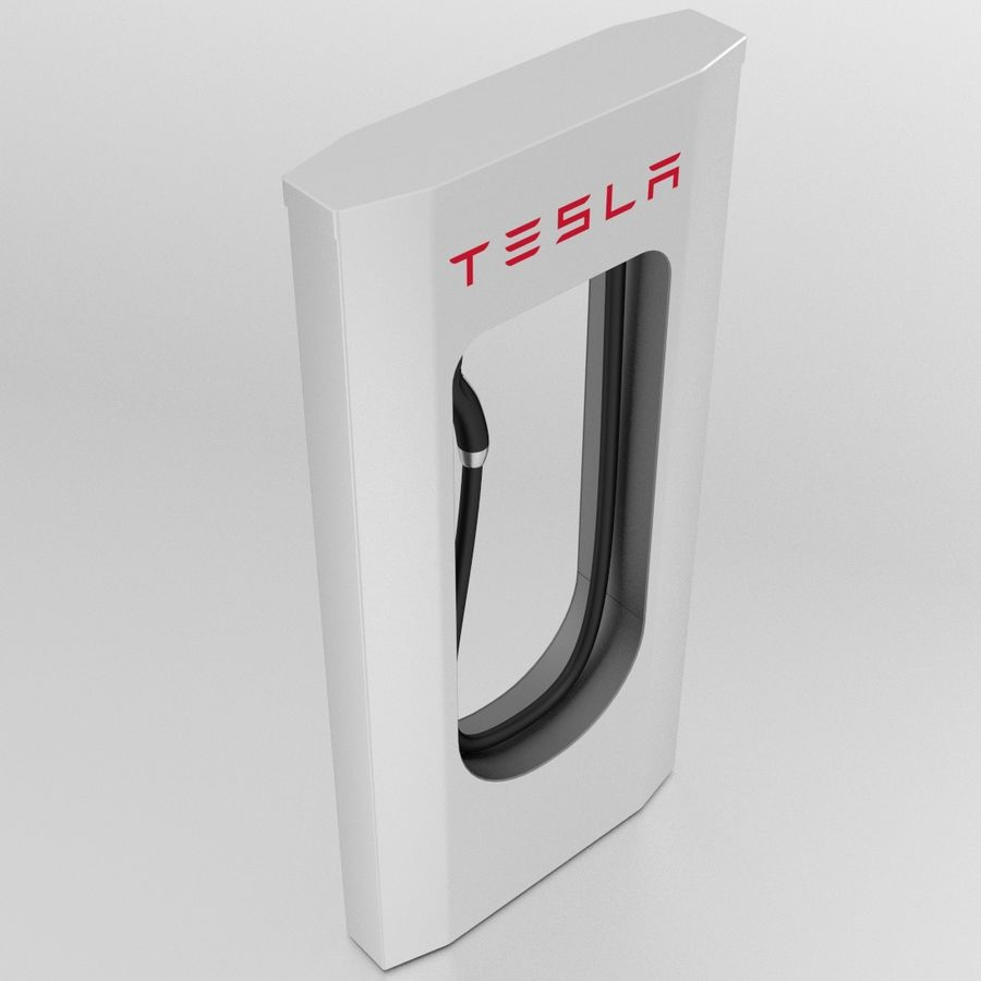 Tesla Supercharger royalty-free 3d model - Preview no. 6