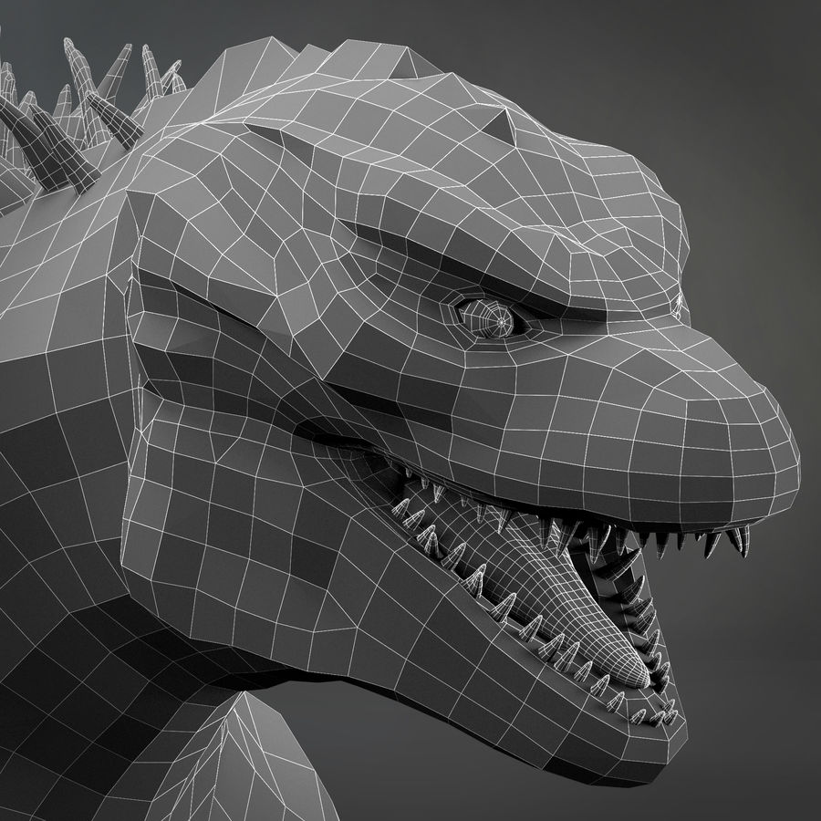 Monster royalty-free 3d model - Preview no. 7