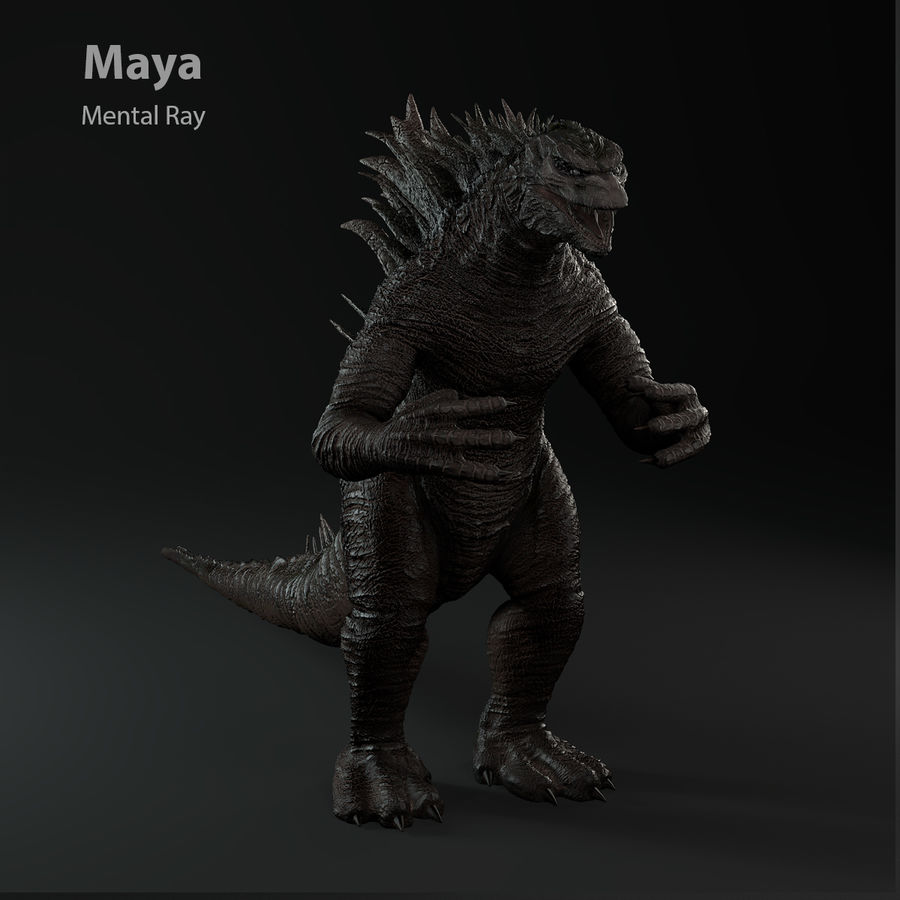 Monster royalty-free 3d model - Preview no. 17