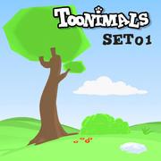 TOONIMALS ACHTERGROND SET 01 3d model