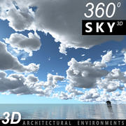 Sky 3D Clouded 004 3d model