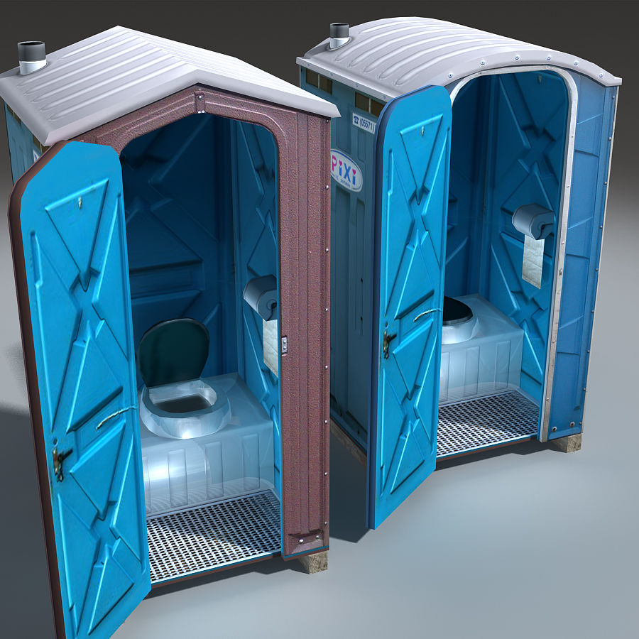 Mobilna toaleta royalty-free 3d model - Preview no. 6