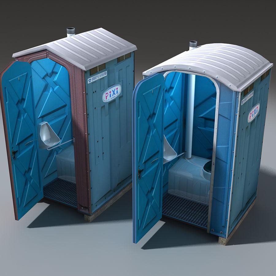 Mobilna toaleta royalty-free 3d model - Preview no. 2