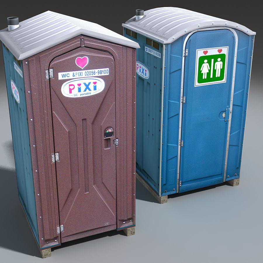 Mobilna toaleta royalty-free 3d model - Preview no. 8