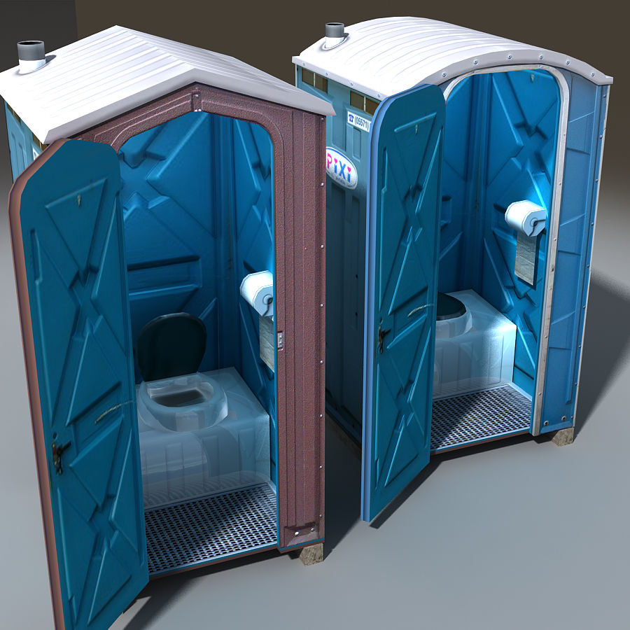 Mobilna toaleta royalty-free 3d model - Preview no. 4