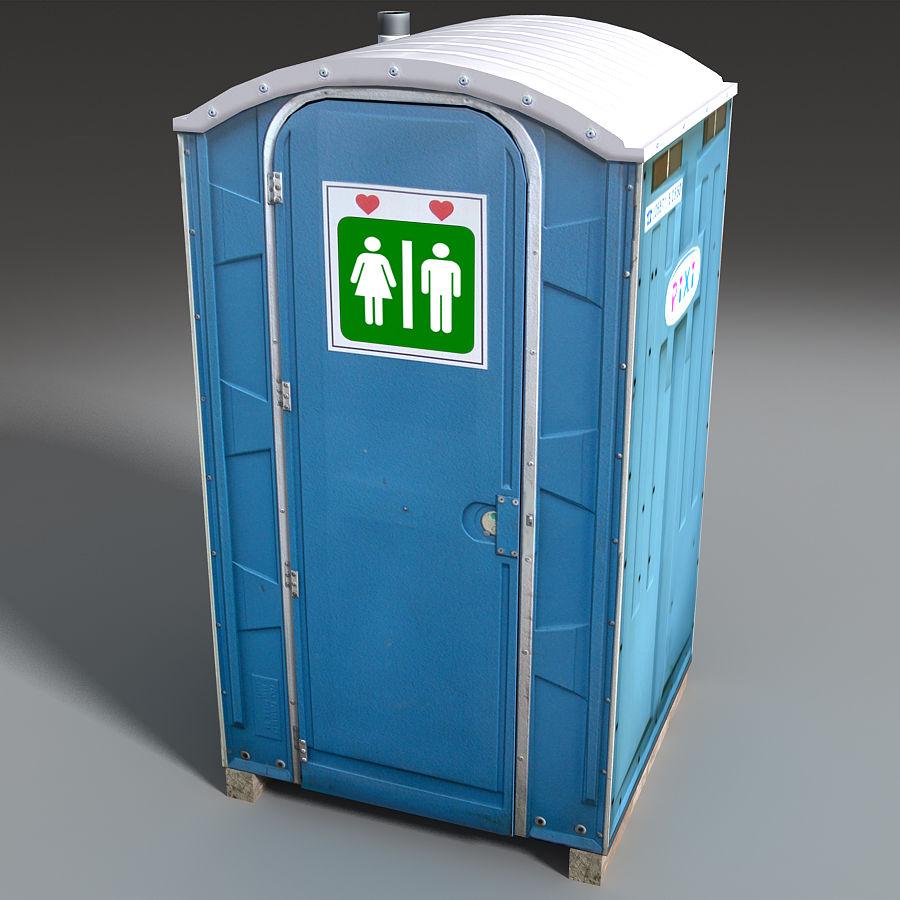 Mobilna toaleta royalty-free 3d model - Preview no. 18