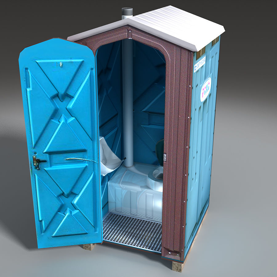 Mobilna toaleta royalty-free 3d model - Preview no. 15