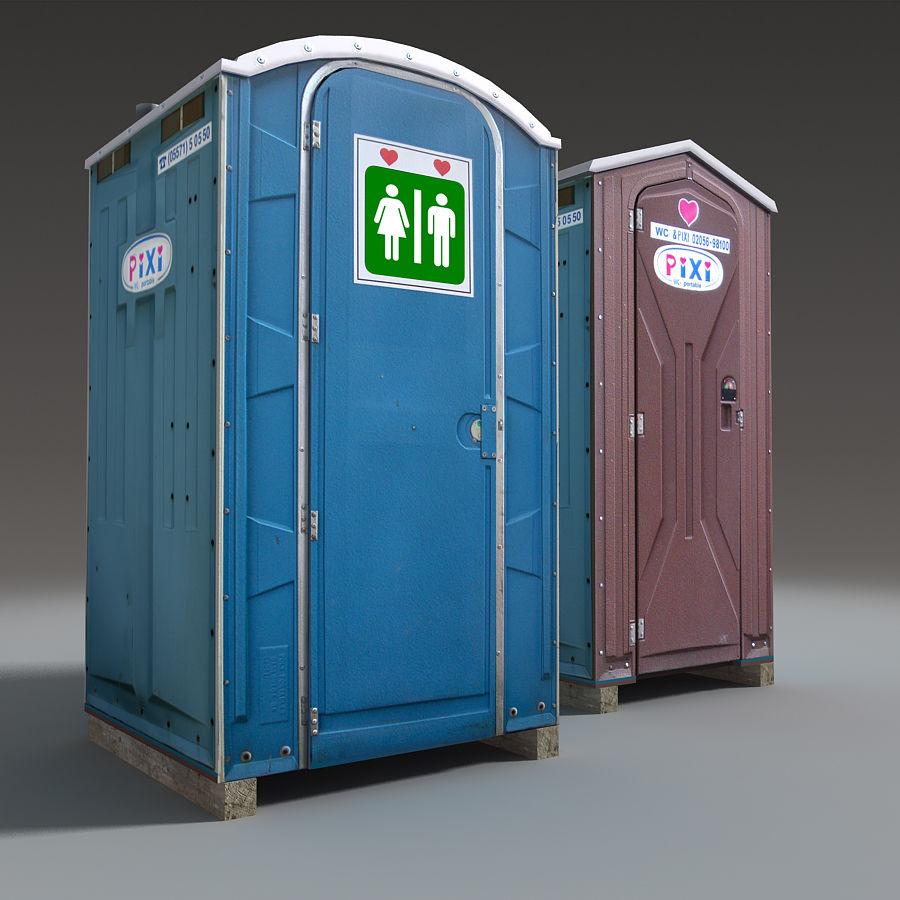 Mobilna toaleta royalty-free 3d model - Preview no. 13