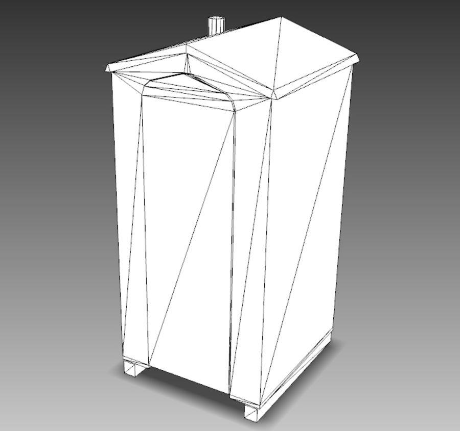 Mobilna toaleta royalty-free 3d model - Preview no. 20